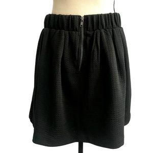 Candie's Skirts - Candie's Black Textured Skater Skirt